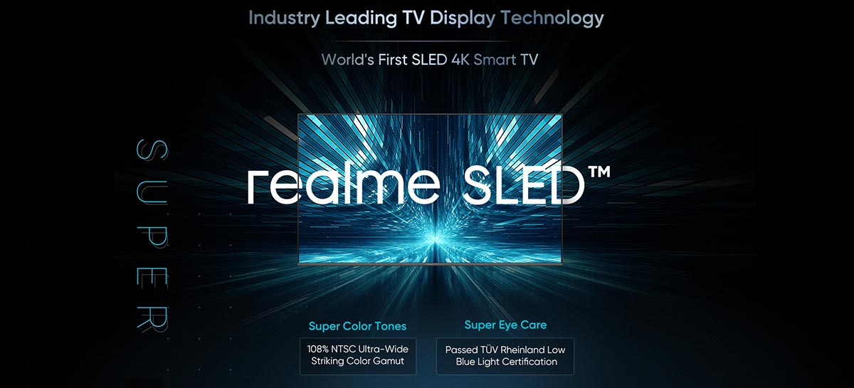 Realme anuncia a primeira smart tv SLED 4K do mundo