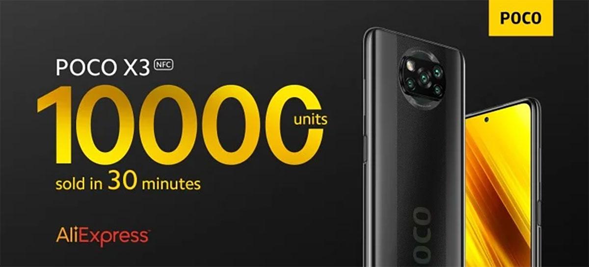 POCO X3 NFC vende 10 MIL UNIDADES em apenas meia hora na AliExpress
