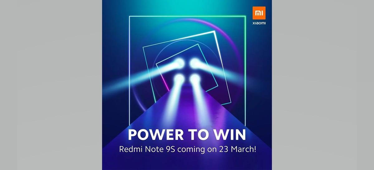 Xiaomi marca lançamento do Redmi Note 9S para o dia 23 de março