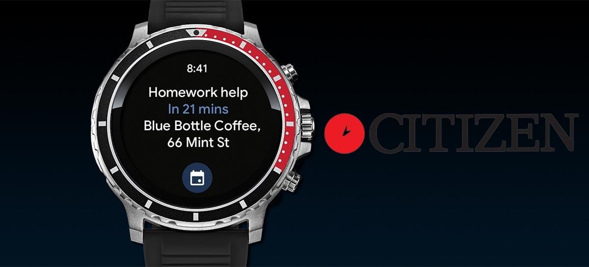 Famosa empresa de relógios Citizen lança seu primeiro smartwatch