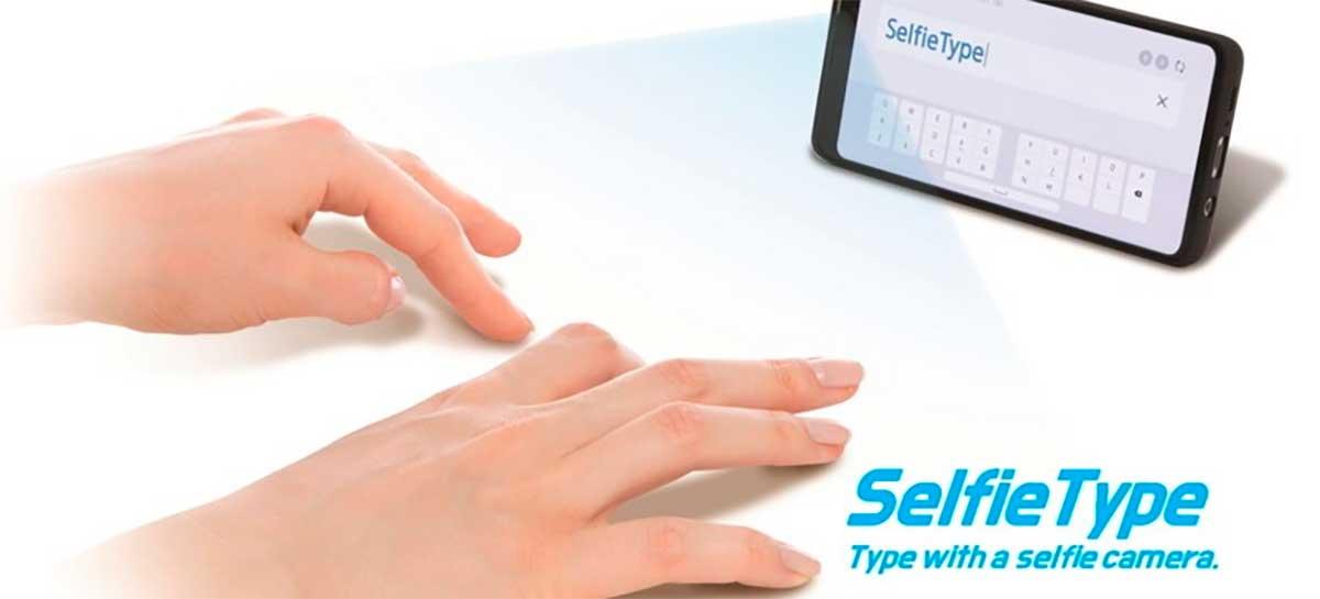 Samsung apresenta teclado INVISÍVEL SelfieType durante a CES 2020