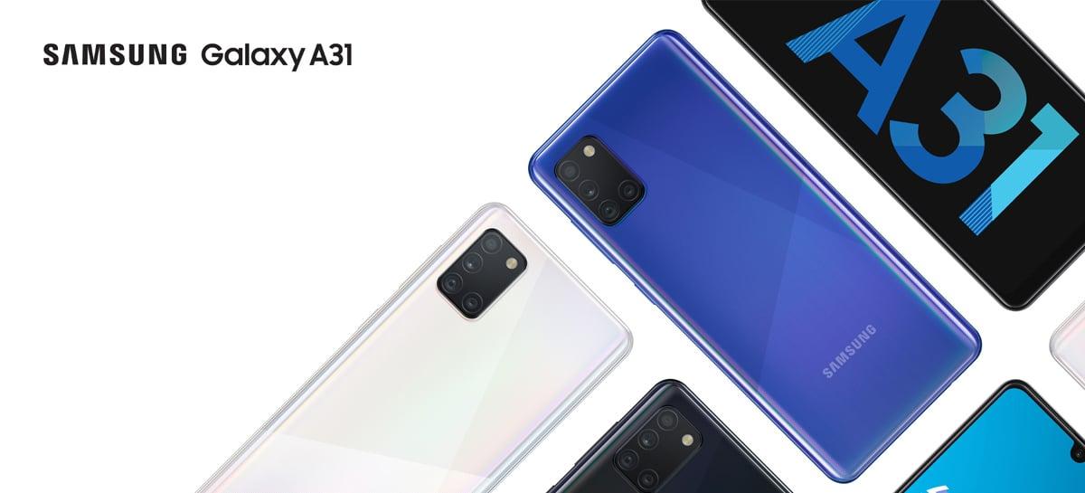 Samsung Galaxy A31 chega com câmera de 48MP e bateria de 5.000mAh