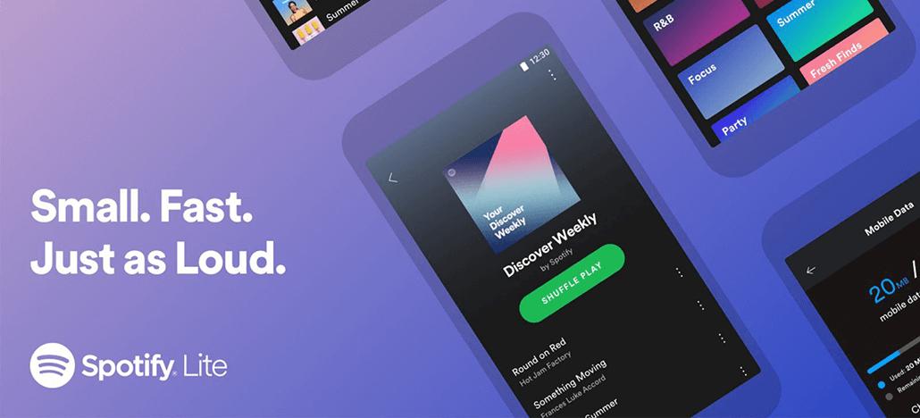 Spotify Lite é lançado como alternativa leve para o player de música