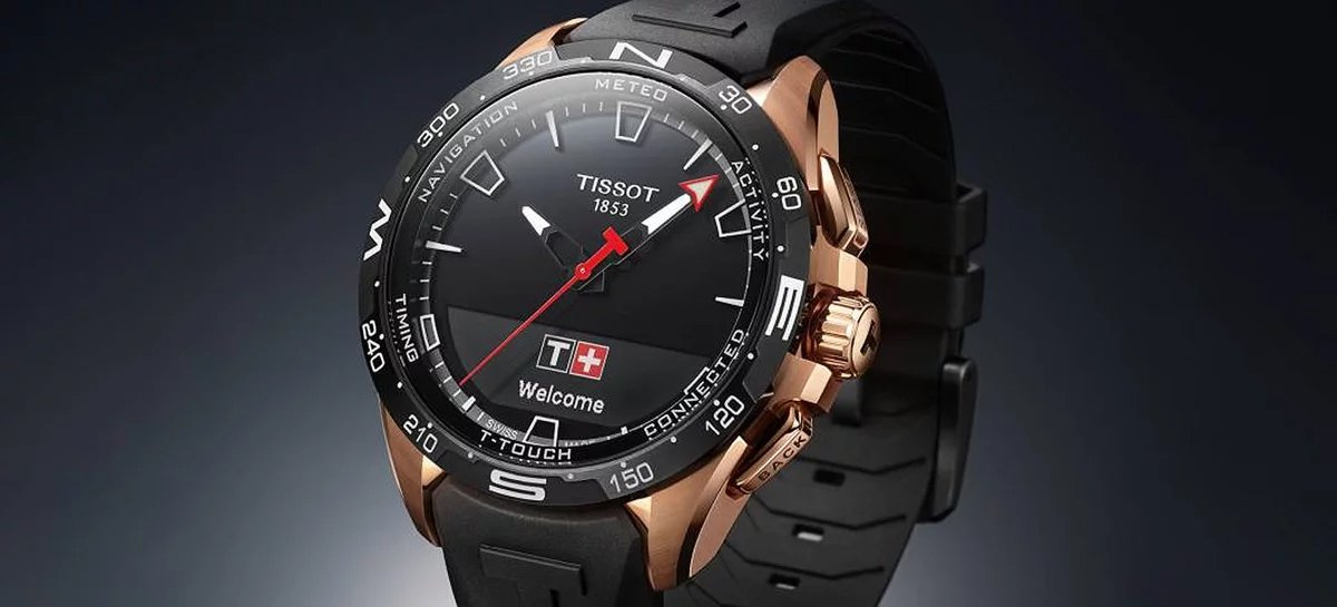 Tissot T-Touch Connect Solar is a new smartwatch with battery charging ...