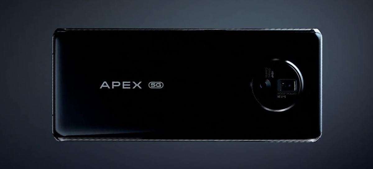Celular conceito Vivo Apex 2020 tem câmera frontal embaixo da tela e gimbal mecânico