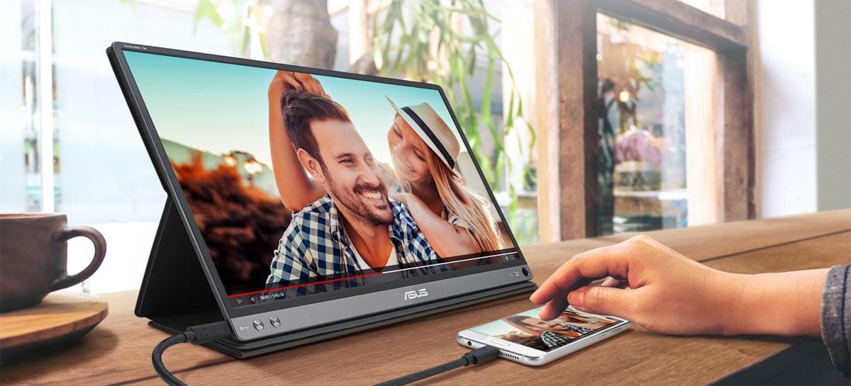 SEGUNDA TELA: Monitor portátil ASUS ZenScreen funciona em notebooks e smartphones