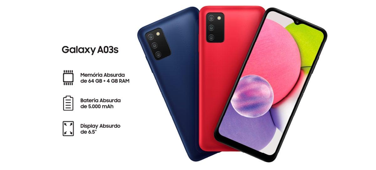 Samsung Galaxy A03S é lançado no Brasil com bateria de 5.000 mAh por R$ 1.499