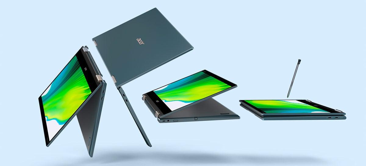 Acer revela novo Spin 7, notebook híbrido com 5G e tratamento