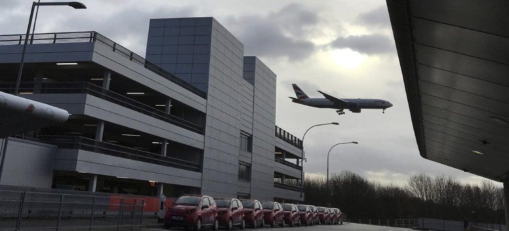 Polícia prende duas pessoas por usarem drones para atrapalhar aeroporto na Inglaterra