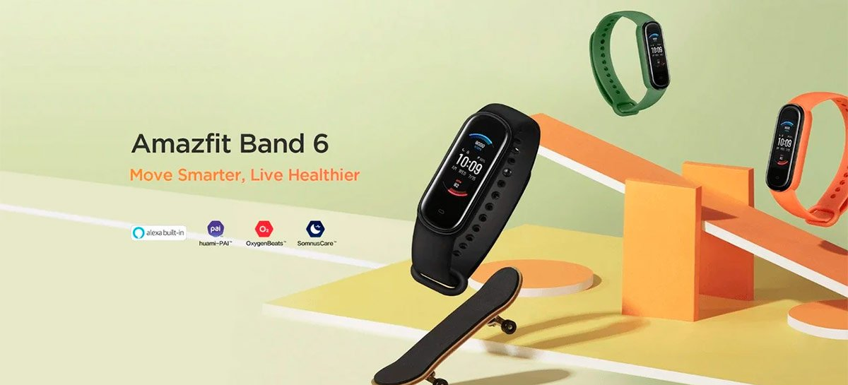 Amazfit Band 6 é listada no AliExpress – monitor SPO2 e Amazon Alexa são destaques