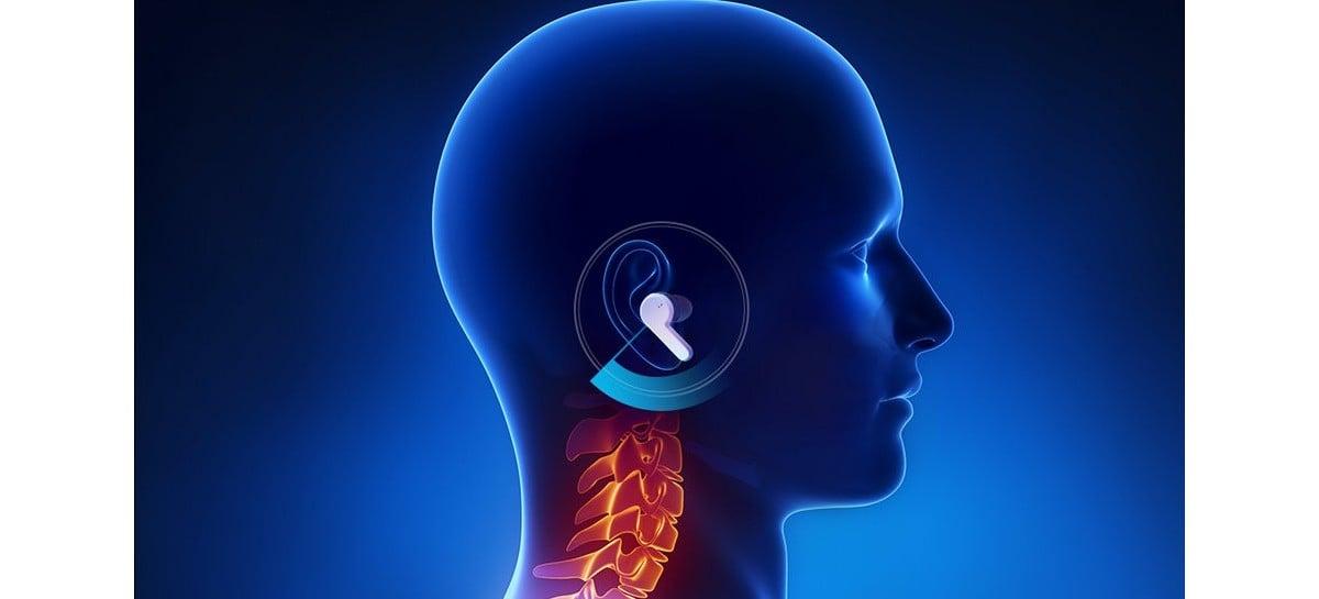 Fone de ouvido Amazfit PowerBuds Pro rastreia postura e batimentos cardíacos