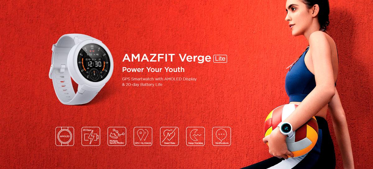 Amazfit Verge Lite cai para US$77 na versão global com GPS destinada a esportistas
