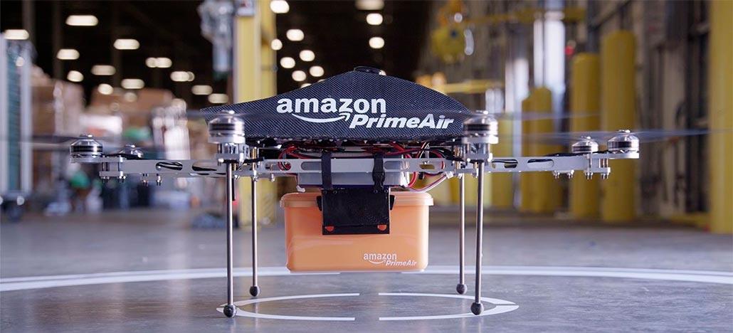 Nova patente da Amazon mostra sistema para drones derrubarem suas entregas do ar