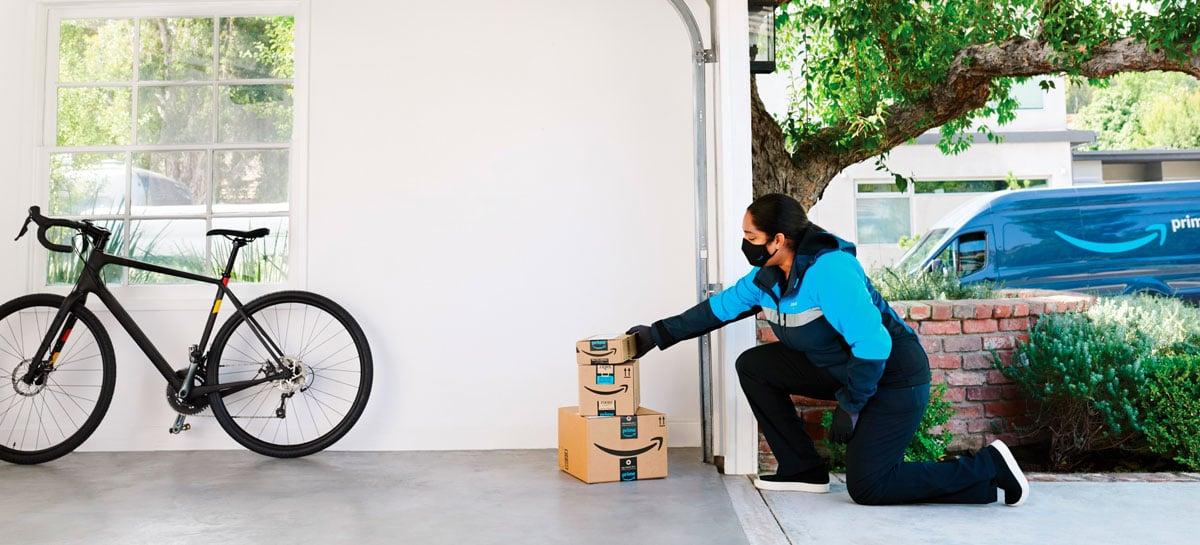 Amazon está expandindo a entrega sem contato nos Estados Unidos