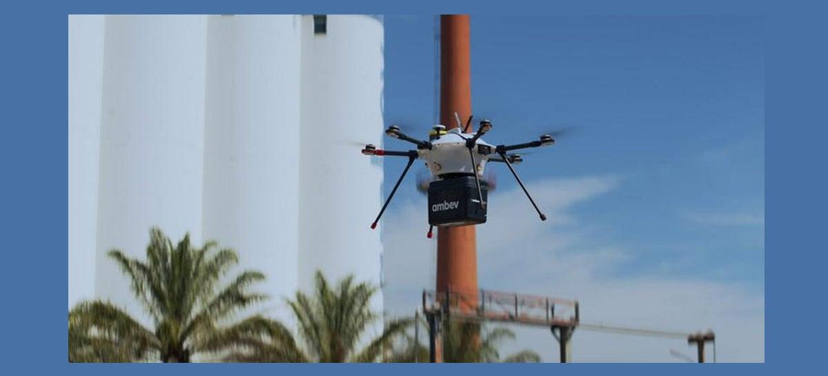 Ambev realiza primeiro teste com drone entregando bebidas - veja fotos