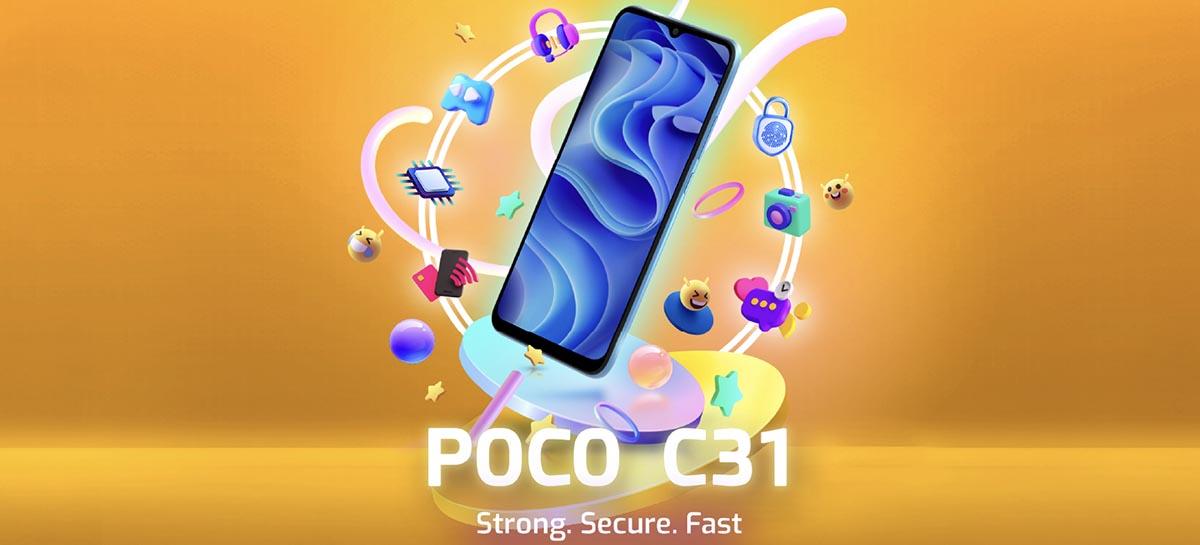 Smartphone POCO C31 é oficial: bateria de 5.000 mAh e preço acessível