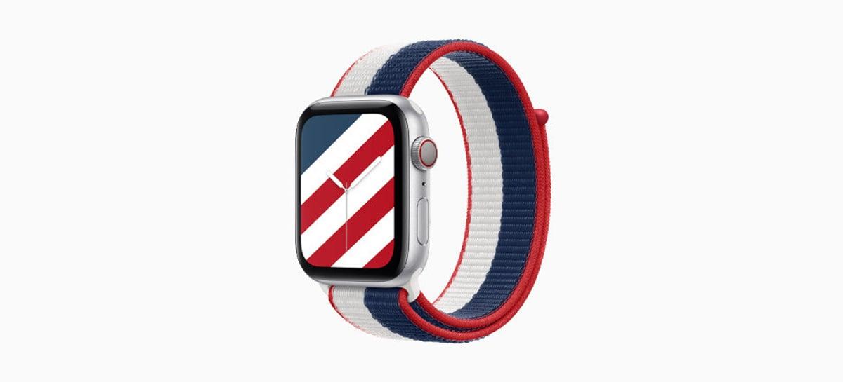 Apple lança pulseiras para o Apple Watch com cores de bandeiras de 22 países