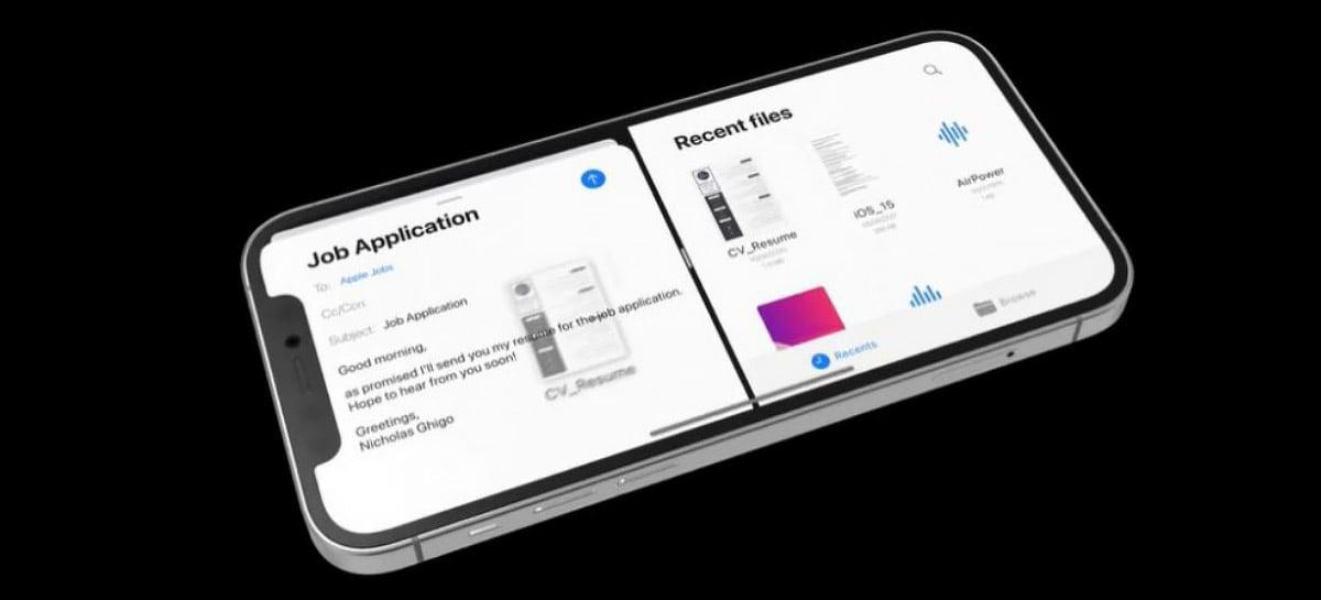 Conceito do iOS 15 apresenta tela dividida, widgets na tela de bloqueio e mais