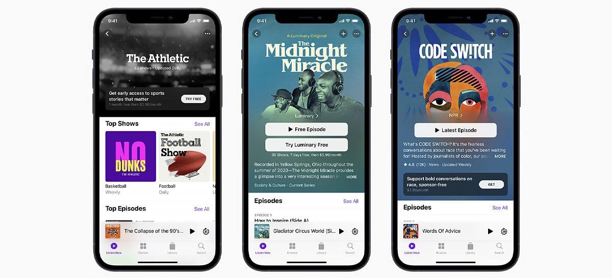 Assinaturas no Apple Podcasts para remunerar criadores serão lançadas em 15 de junho