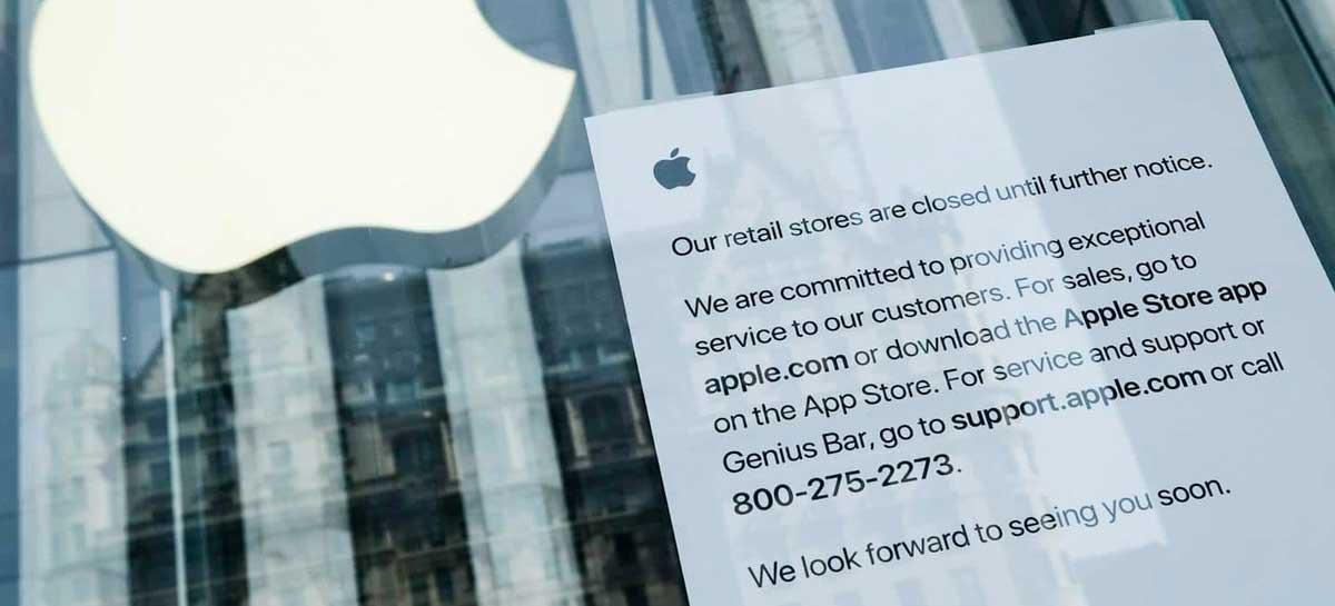 Apple está fechando novamente algumas de suas lojas nos EUA
