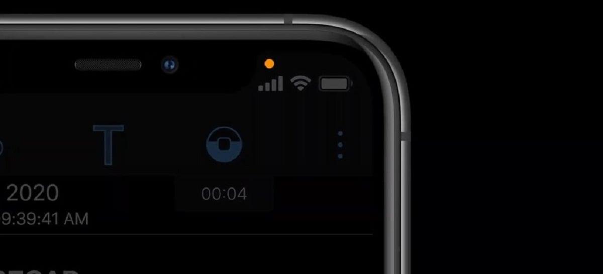 iOS 14 vai notificar uso de câmera e microfone em apps com luzes coloridas
