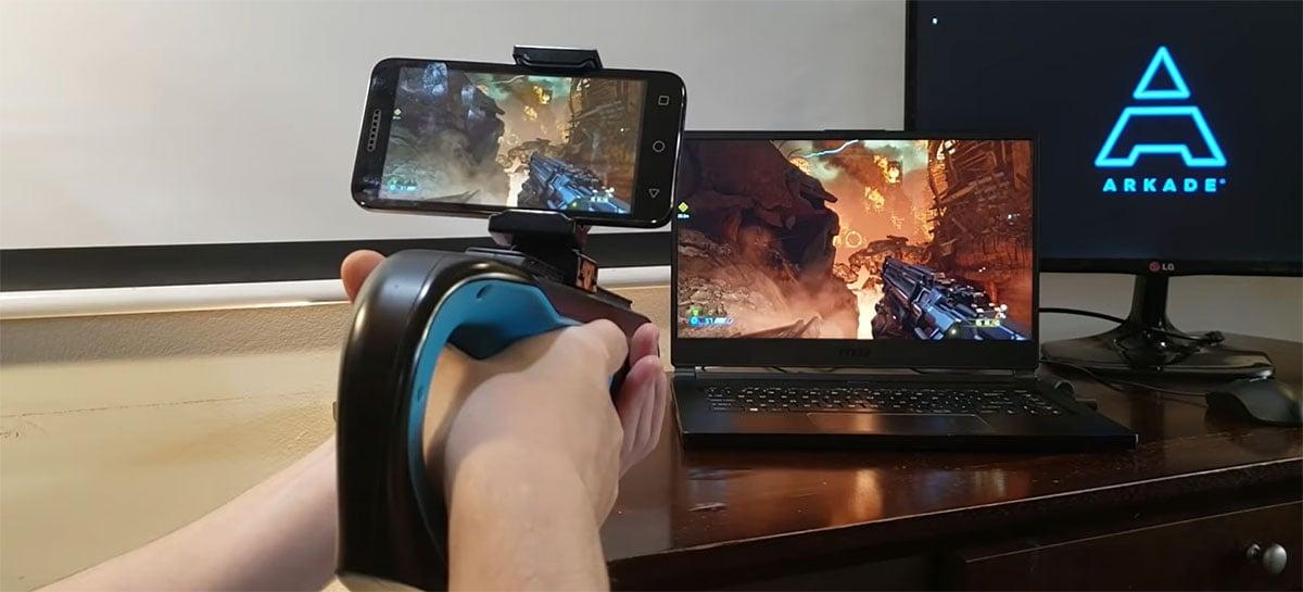 Arkade Games lança arma para acoplar no celular e jogar FPS