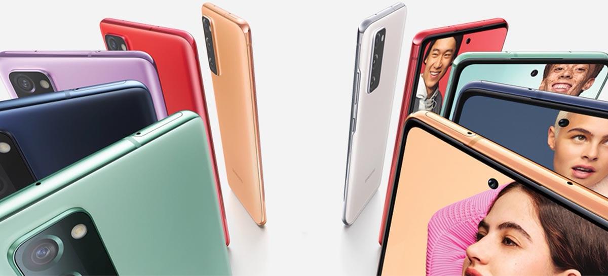 Artes promocionais do Samsung Galaxy S21 FE são vazadas