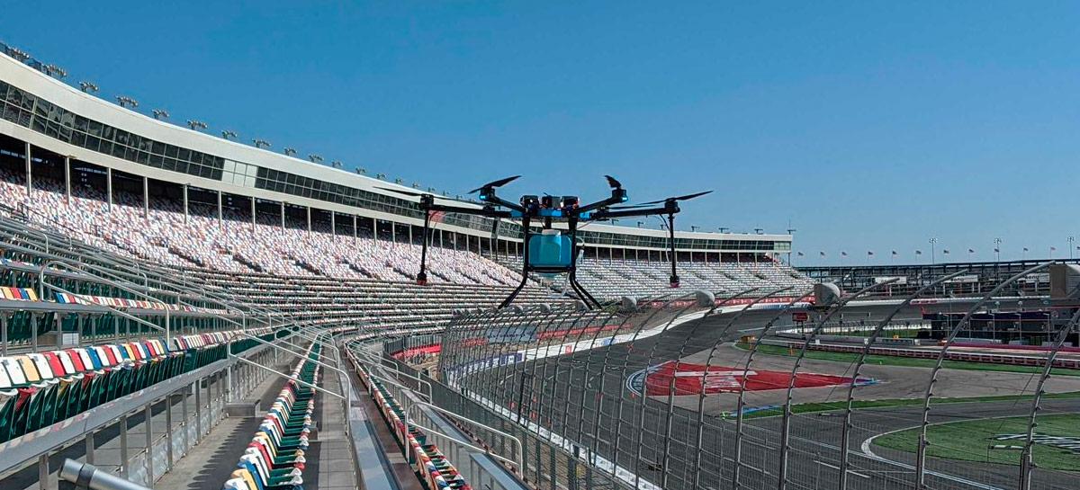 Time de futebol americano vai usar drones para desinfetar seu estádio a cada jogo