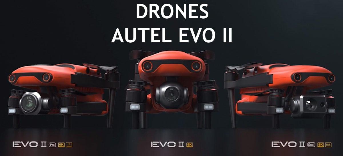 Os drones Autel EVO II foram anunciados como melhores do mundo - conheça mais