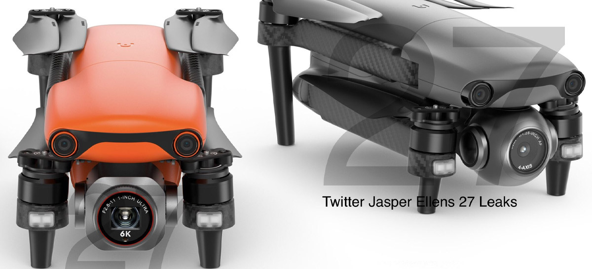 Drones AUTEL EVO Nano e Autel EVO Lite tem fotos e especificações vazadas