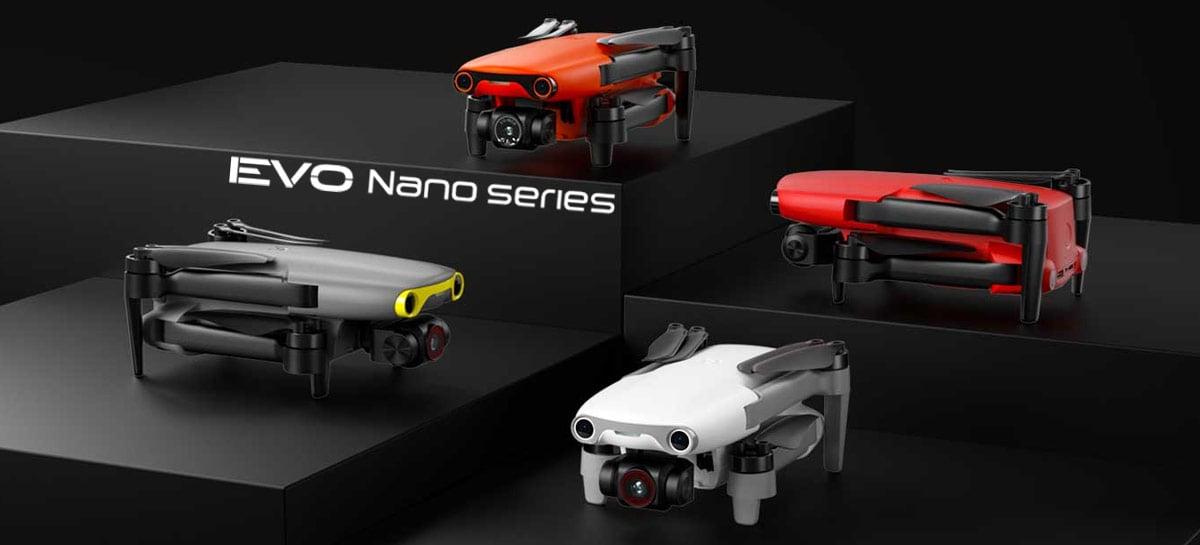 Drones Autel EVO Nano anunciados em 4 cores, com 249 gramas, sensores e câmeras de alta qualidade