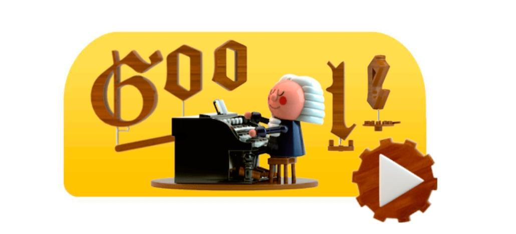 Google celebra aniversário de Bach com primeiro doodle feito com inteligência artificial