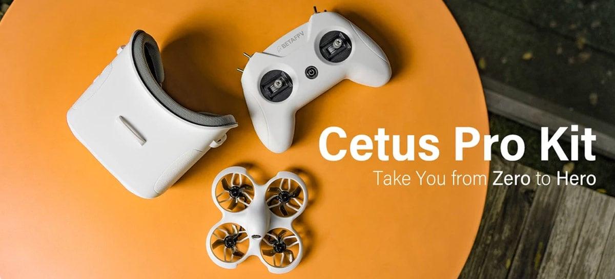 Drone BetaFPV Cetus Pro vem em kit completo e barato para iniciantes em FPV