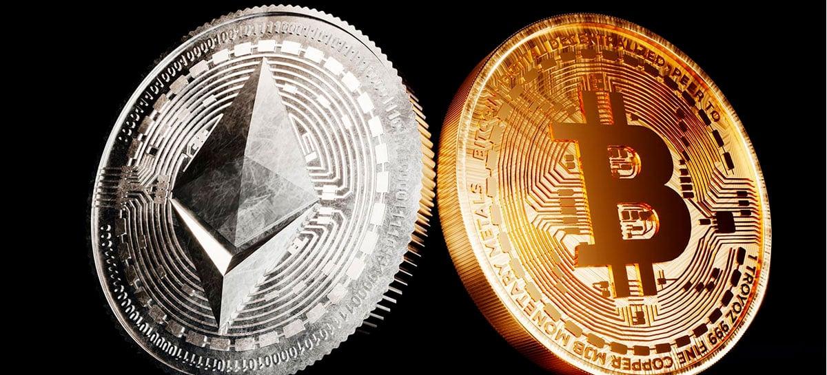 Ether dispara 1.400% e supera Bitcoin em volume de transações