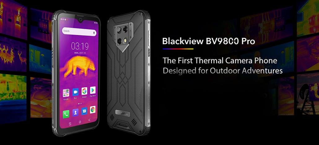 Telefone ultra-resistente Blackview BV9800 Pro tem 3 câmeras, sendo uma térmica da FLIR!
