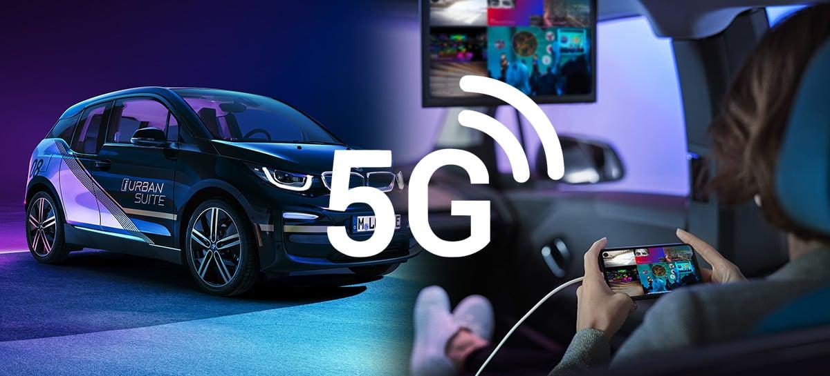 BMW apresenta modelo do primeiro carro premium com 5G do mundo