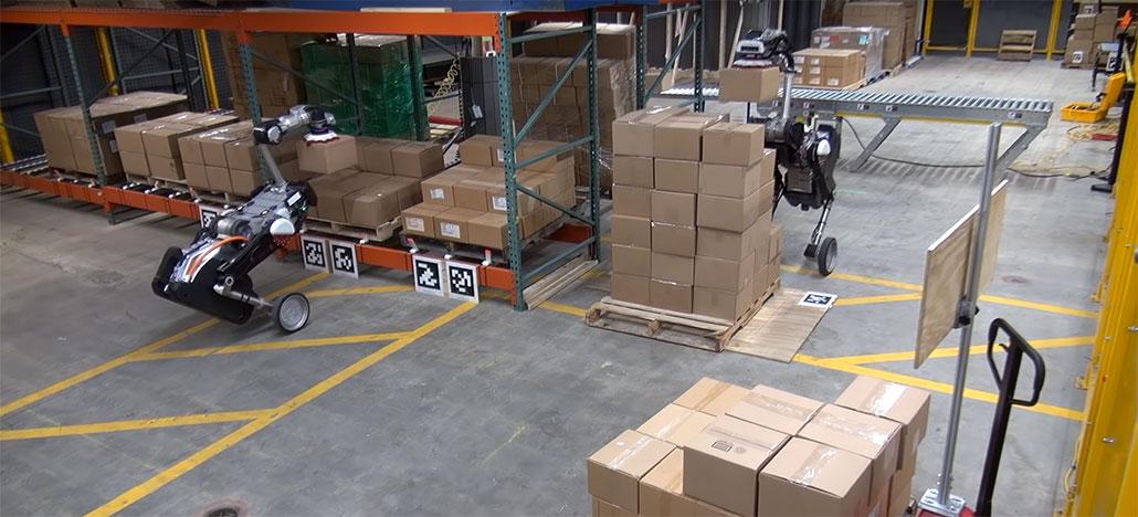 Novo robô da Boston Dynamics se chama Handle e serve para mudar caixas de lugar