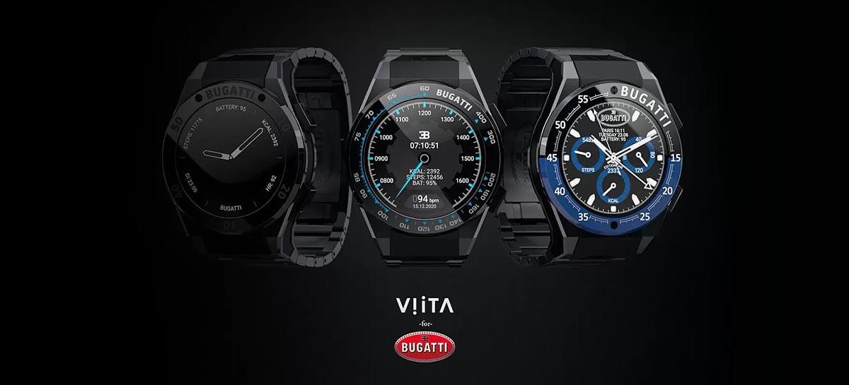 Bugatti e VIITA se juntaram para lançar três novos smartwatches