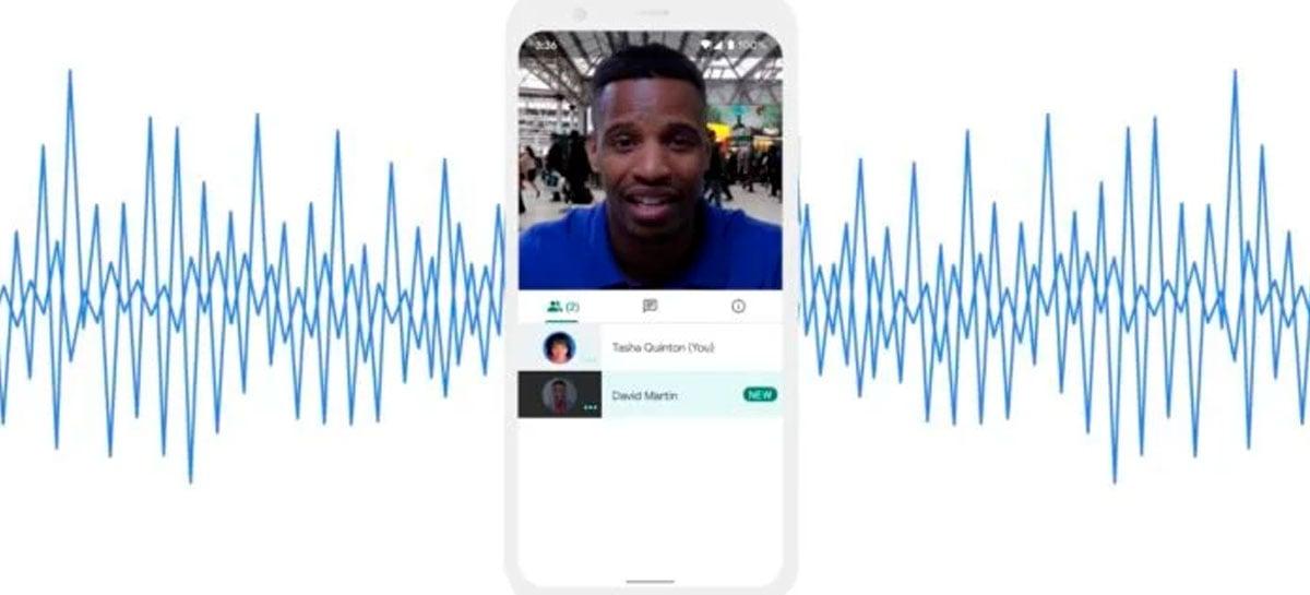 Google Meet mobile está recebendo cancelamento de ruído