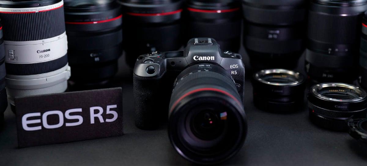 Câmera Canon EOS R5 com suporte a resolução 8K será anunciada dia 9, quinta-feira