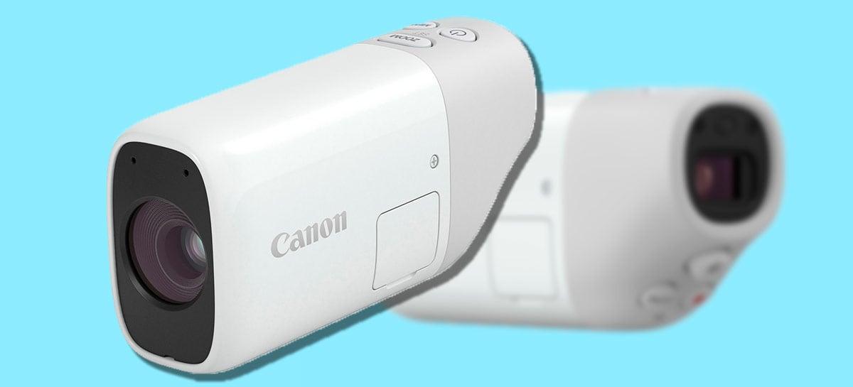 Mini-câmera PowerShot Zoom, da Canon, cabe no bolso e vem cheia de recursos