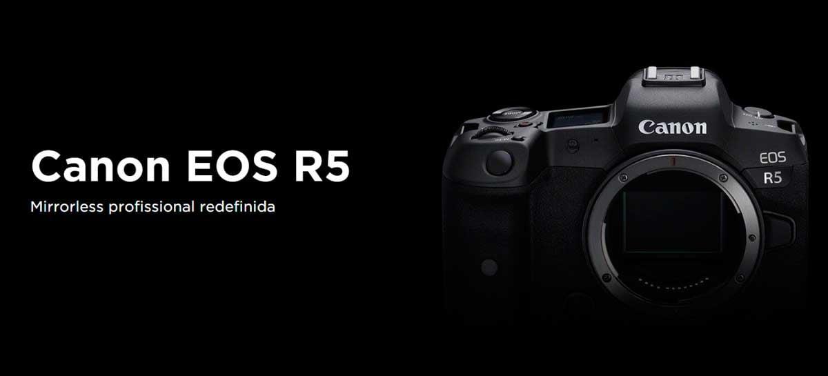 Canon anuncia câmera EOS R5 com 45MP, suporte a 8K e mais