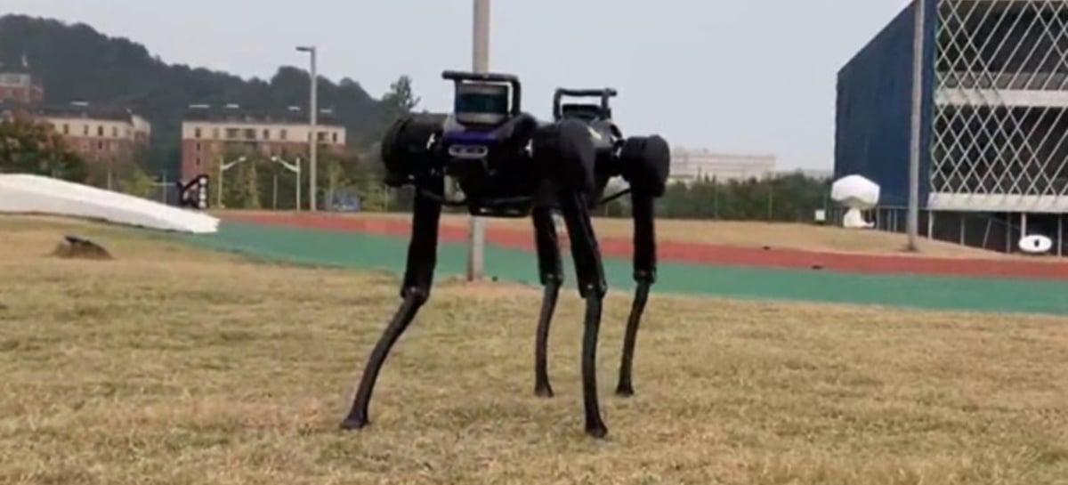 Veja robô em formato de cachorro se levantando após quedas forçadas
