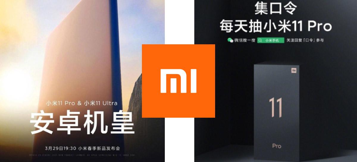 OFICIAL: Xiaomi Mi 11 Pro e Xiaomi Mi 11 Ultra serão anunciados dia 29 de março