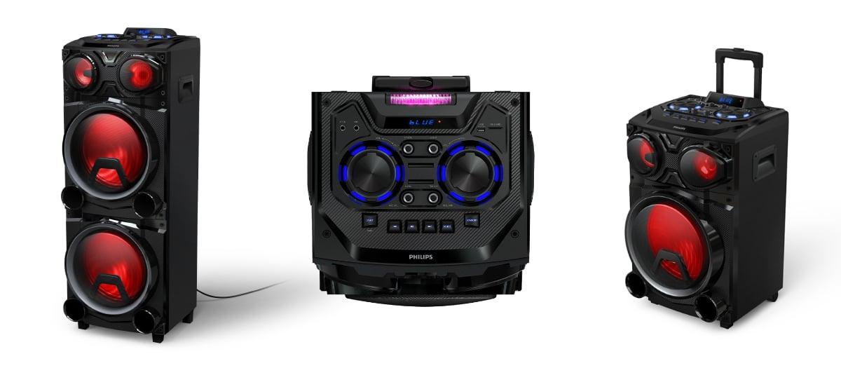 Philips lança caixas de som Bluetooth com tecnologia Party Light