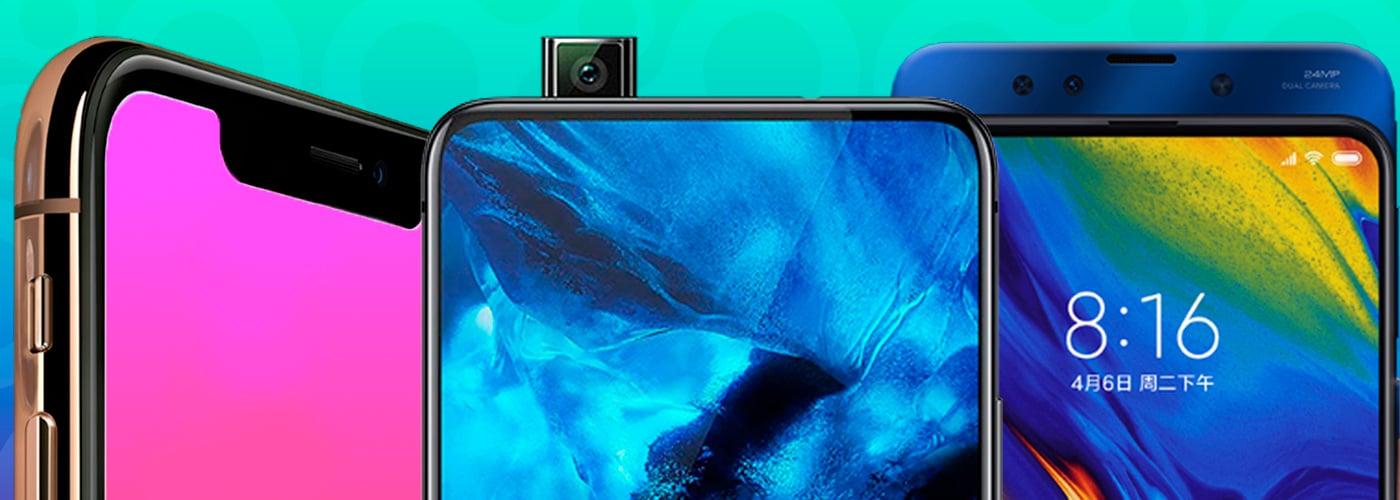 Notch, câmera retrátil e slider: as soluções das fabricantes para conseguir uma tela maior