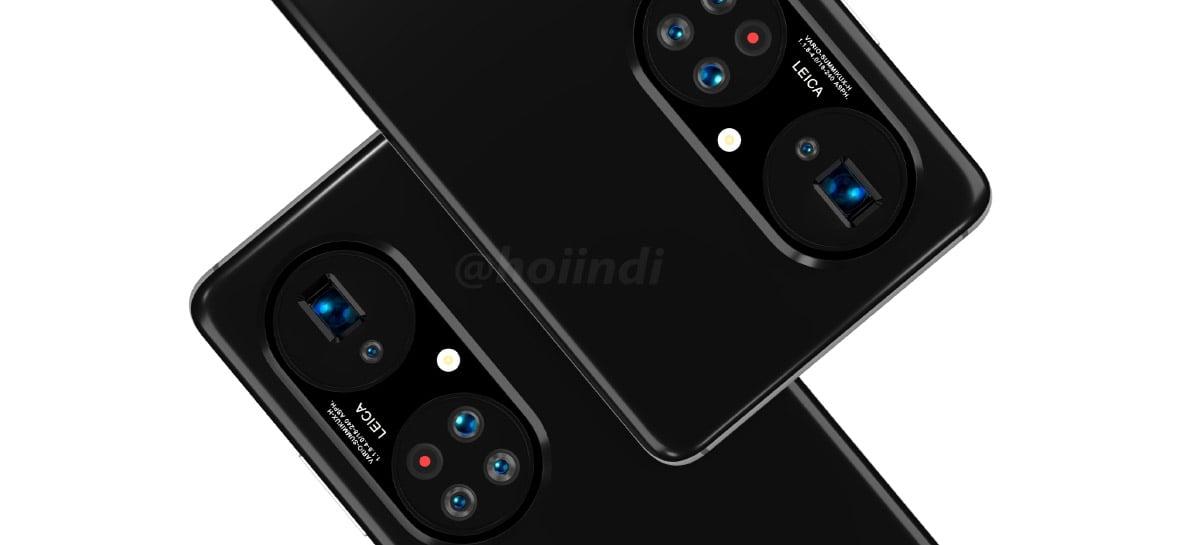 Design do Huawei P50 Pro Plus sugere conjunto com cinco câmeras