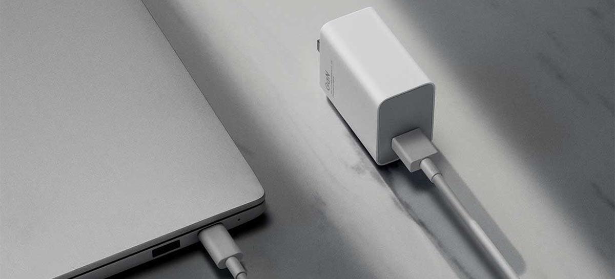 Carregador Xiaomi 55W GaN charger compatível com Mi 11 é lançado por $15 dólares