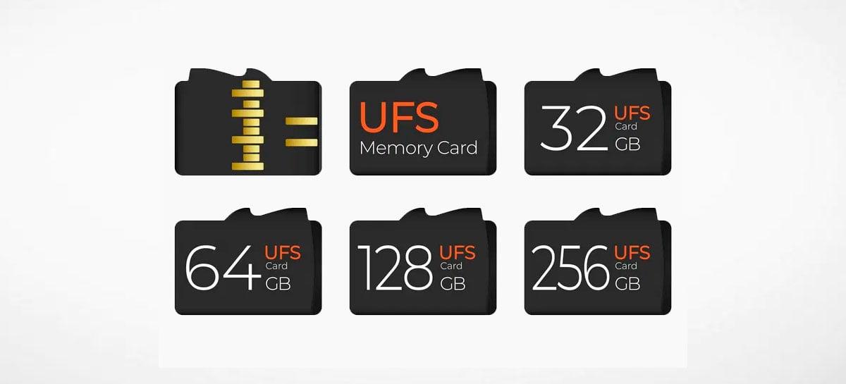 Cartões de memória padrão UFS 3.0 irão alcançar até 1200MB/s