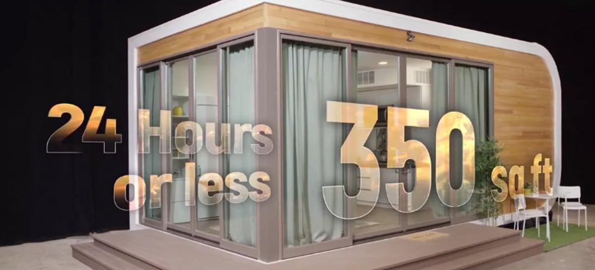 Casas impressas em 3D em apenas 24 horas já estão disponíveis na Califórnia